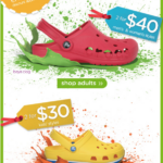 Crocs Deals! Kids for $15, Adults for $20!