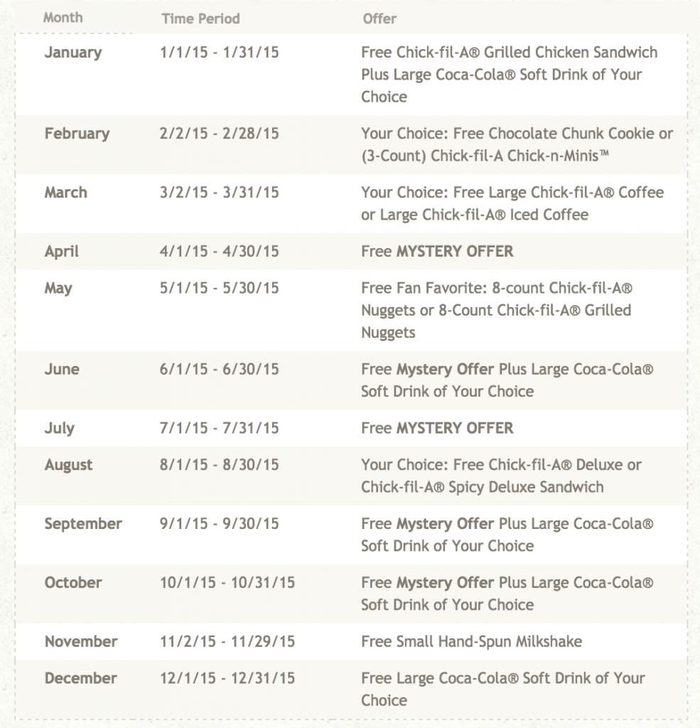 April Calendar Card Chick Fil A : Chick fil a cow calendar local giveaway mission