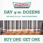 Krispy Kreme BOGO Day of the Dozens Coupon