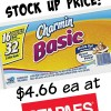 Toilet Paper Stock Up Price at Staples- Charmin Basic for $4.66