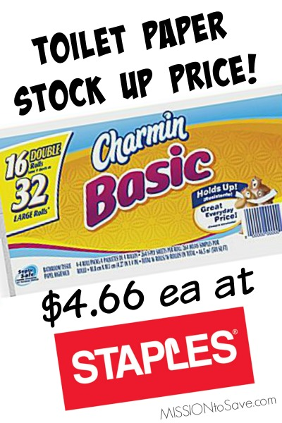 Toilet Paper Stock Up Price At Staples Charmin Basic For