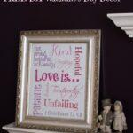 Easy DIY Valentine's Day Decor with FREE Printable Love is Subway Art