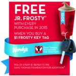 Wendy's Frosty Key Tags Are Back- Buy for $1, Get Free Jr Frostys All Year!