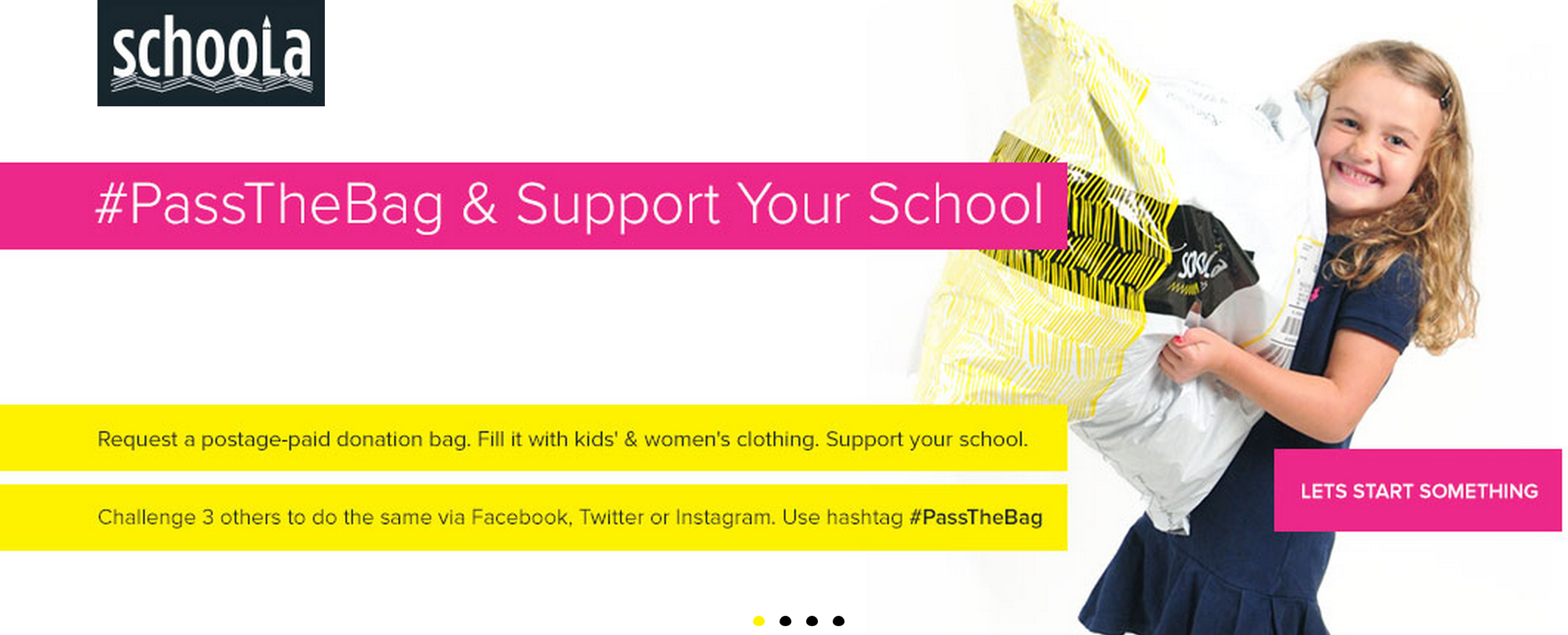 Schoola Request a Bag for Donation- 40% proceeds go back to school of your choice.