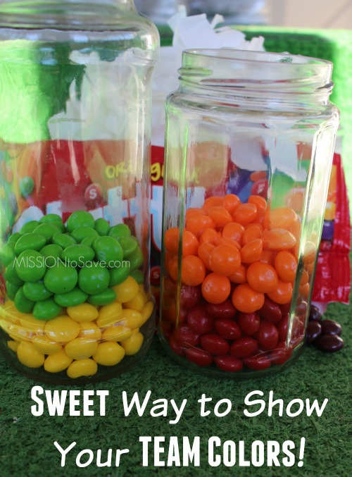 Skittles are sweet way to show your team colors. Perfect addition to your #BigGameTreats #ad