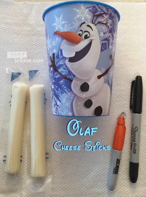See how to draw these adorable Olaf Cheese Sticks.  They are perfect for any Frozen or Disney themed party.