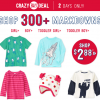 Crazy 8 Sale! Markdowns starting at $2.88!