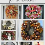 Round Up of DIY Wreaths for All Seasons!