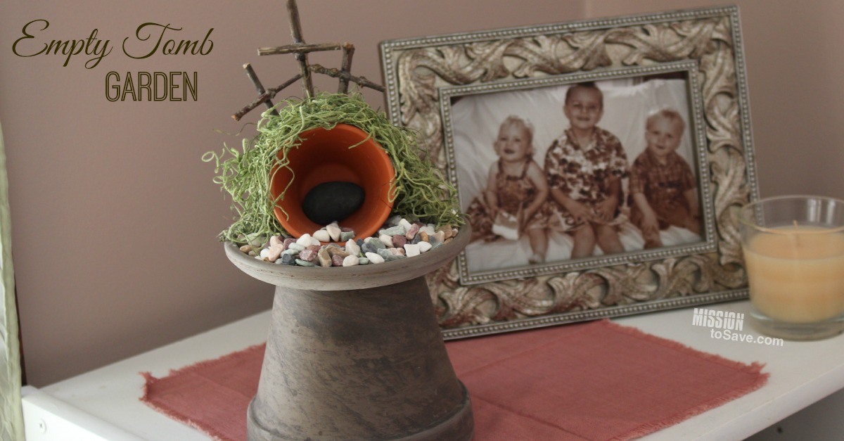 Try making this great DIY Easter Decor project- The Empty Tomb Garden