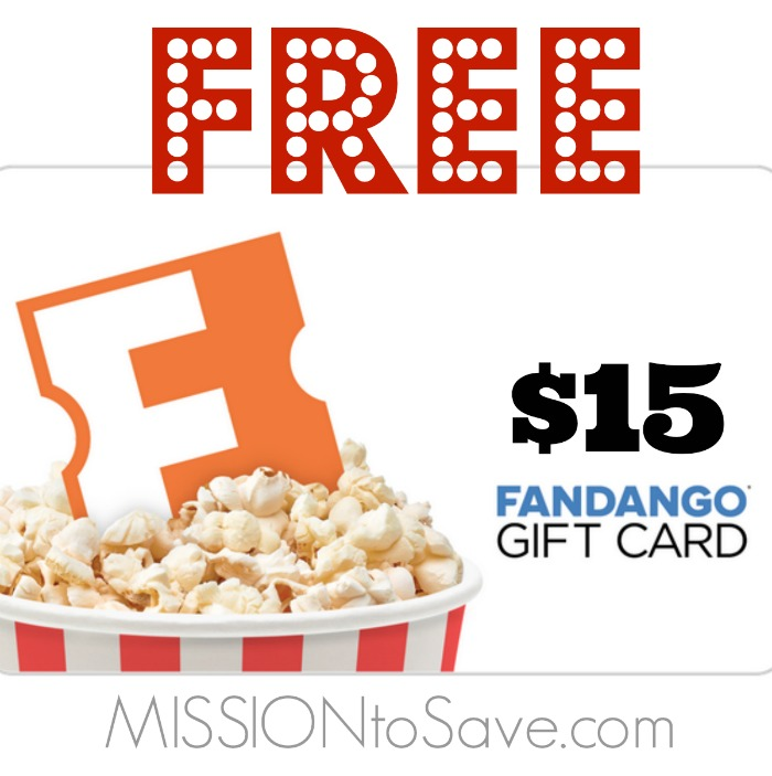 Free Fandango Gift Card After Cash Back - Mission: to Save