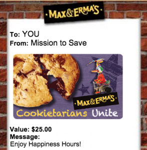 Enter to WIN a $25 Max & Erma's Gift Card
