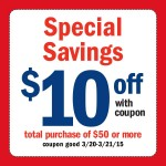 Meijer Coupon for $10 off $50 Purchase (3/20-3/21 Only)