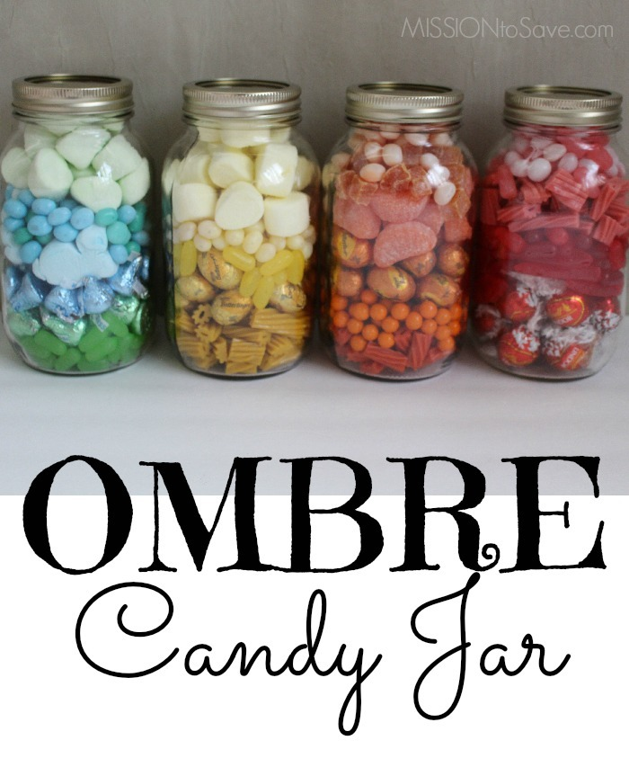 Pretty Ombre Candy Jar Makes a Perfect DIY Gift Idea