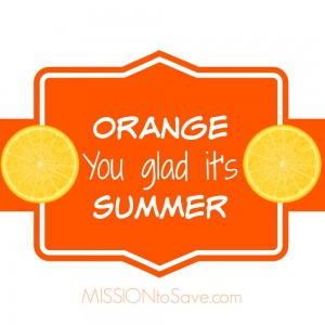 Orange you glad it's summer printable gift tags.