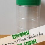 Repurpose Parmesan Cheese Shakers for Pantry Storage
