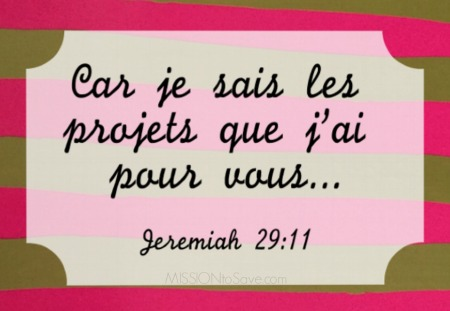 Jeremiah 2911 Printable in French