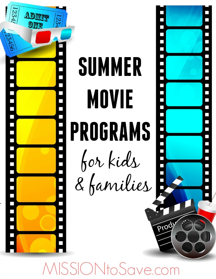 movie film strips and text summer movie programs for families
