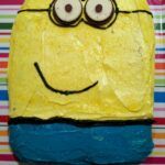 This super easy Minions Cake is perfect for a birthday party. (And no need to be a master cake decorator!)
