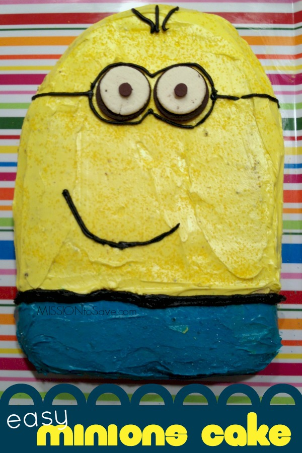 Easy Minion Cake Images : Easy Minions Cake Recipe - Mission: to Save