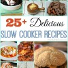 Crock Pot recipes can be life savers for busy night meals. Check out this list of 25+ Slow Cooker Recipes. Everything from main dish entree to dessert recipes.