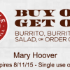 Rare Chipotle Coupon for Buy One, Get One Free (Text Offer)