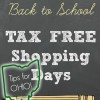 Tips for Ohio Back to School Tax Free Shopping Days