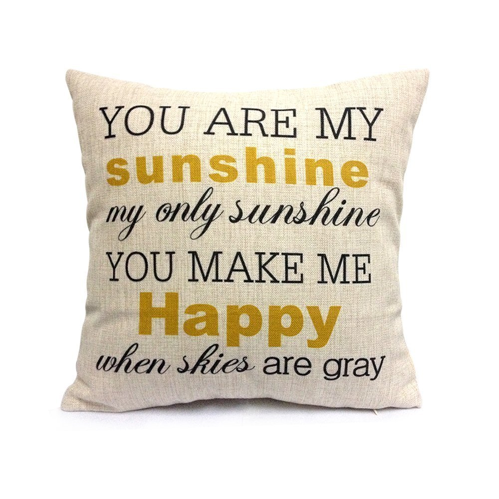 You Are My Sunshine Decorative PillowcaseMissionto Save