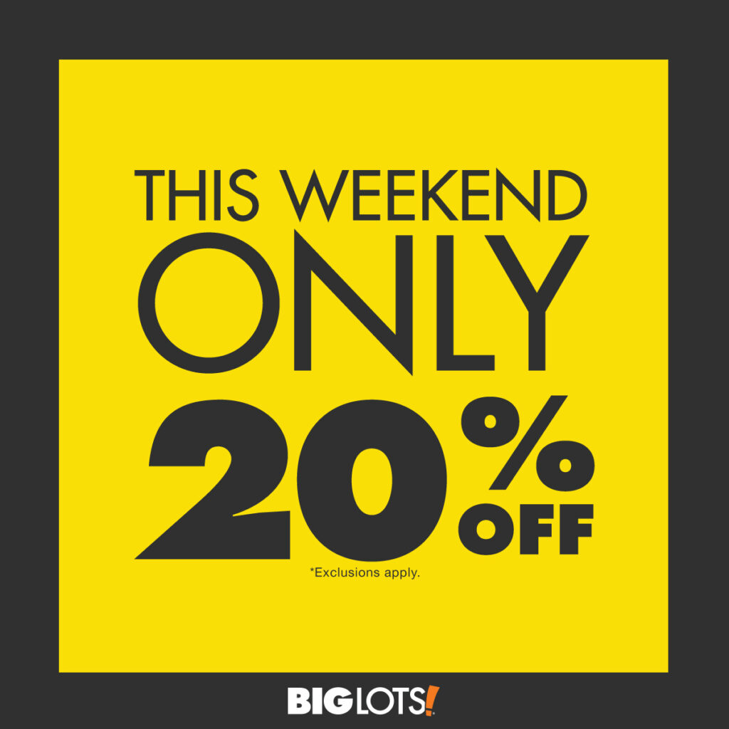 big lots coupon for 20 off friends and family weekend - Big Lots After Christmas Sale