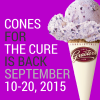 Cones for the Cure Free Graeter's Scoop of Blueberry Pie