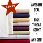 HOT! 600 High Thread Count Sheets Deal- Any Size Set Only $39.99!