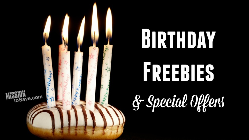 Check out this big list of Birthday freebies and special offers.