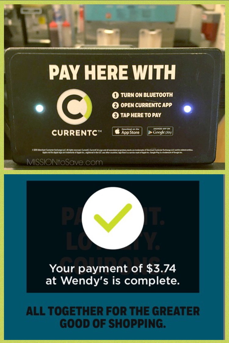 CurrentC Mobile Pay at Wendy's is fast. And check for coupons to save too!