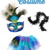 Perfect for Teens on Halloween. Peacock Costume Accessories