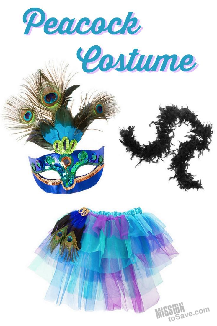teen halloween peacock costume accessories