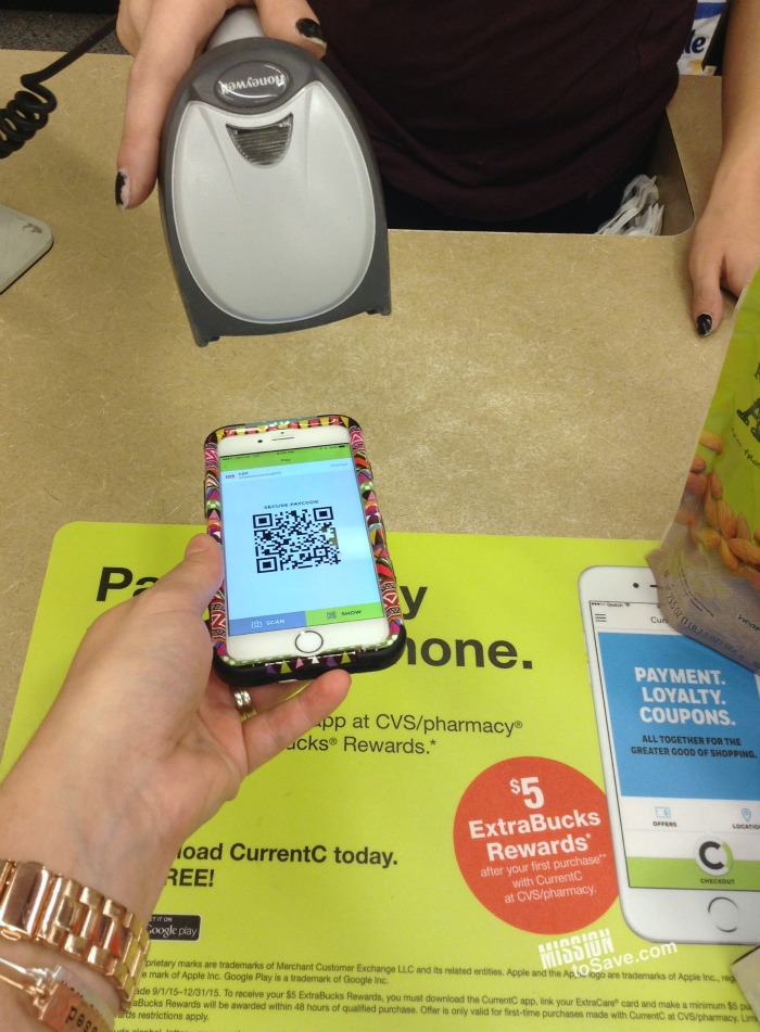 Use CurrentC app at CVS