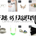 Cents of Style Fashion Friday $5 Clearance Sale!