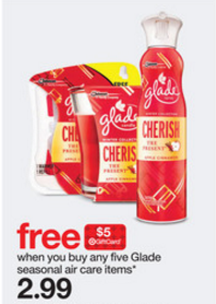 Glade Target Gift Card Offer