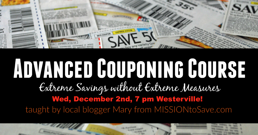 Join me on Wed Dec 2nd at 7 pm for a Couponing Class in Columbus