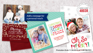 staples holiday card deal