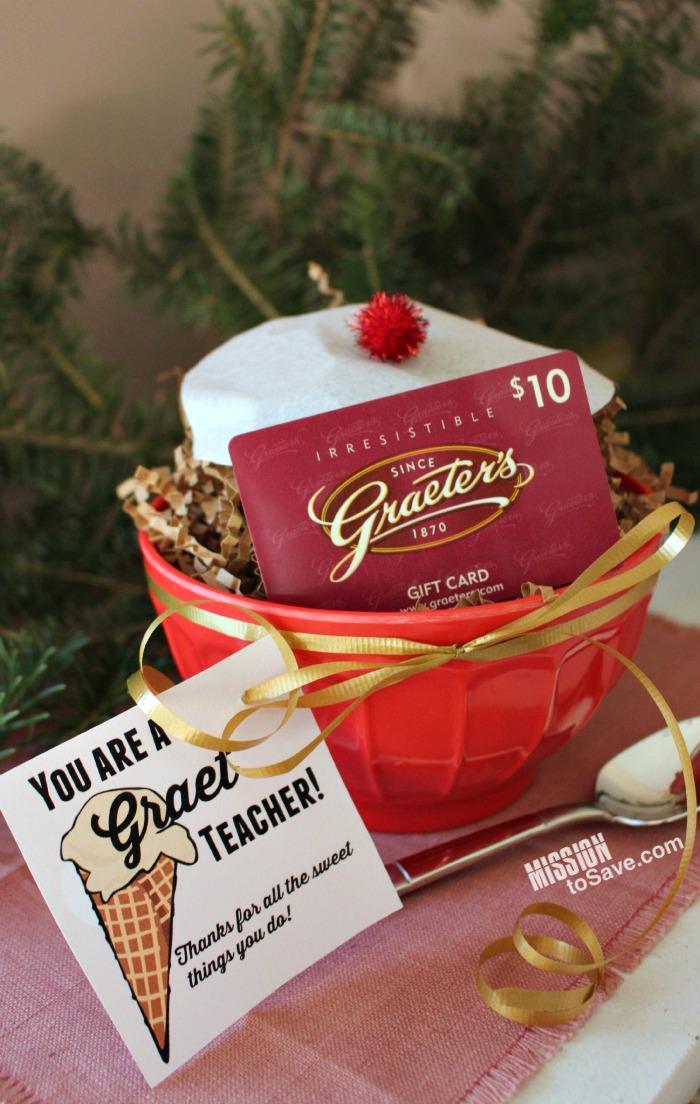 teacher gift idea for graeter s fan you are a graet teacher
