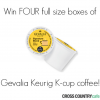 Enter to Win 4 Boxes of Gevalia K-Cups from Cross Country Cafe