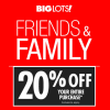 Big Lots 20% Off Sale, Friends and Family Weekend! (4/1-4/2)