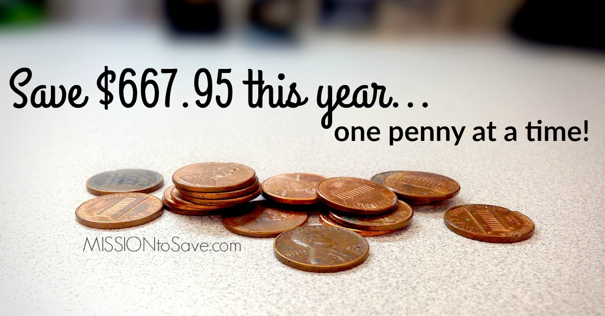 What to know the best way to save this year? Try a 365 Day Savings Challenge. Just a Penny a Day adds up to $667.95 saving in a year!