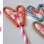 Colored Candy Cane Lollipops