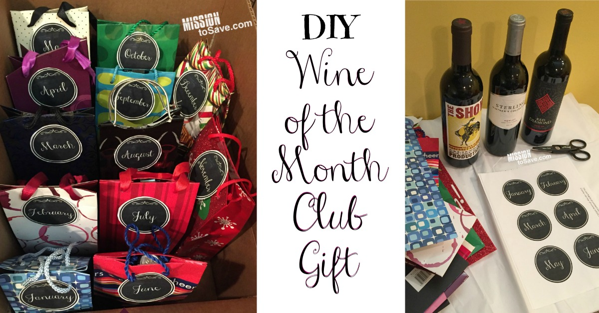 wine club gift diy wine of the month club gift mission to save 11943