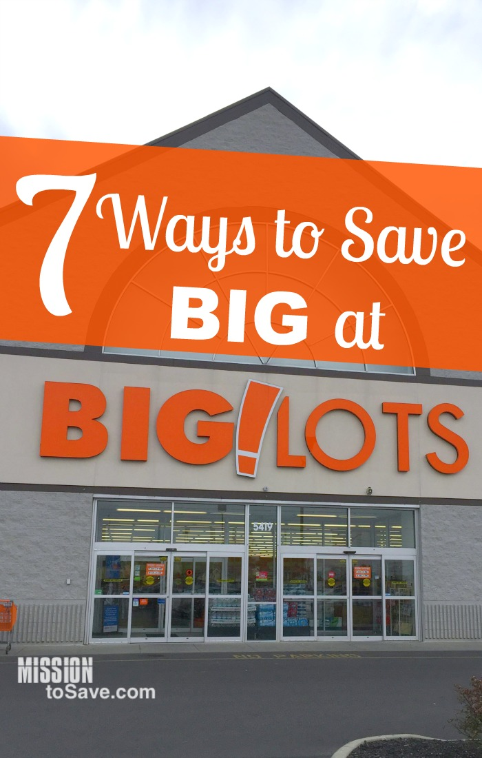 Do you love shopping at Big Lots for the great deals? There may be some some ways to save at Big Lots that you didn't know before. See these 7 Ways to Save Big at Big Lots!