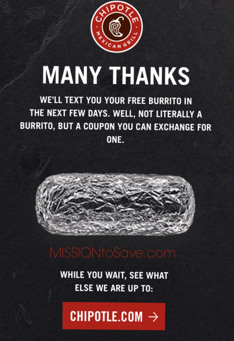 Chipotle discount coupon