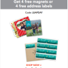 Shutterfly: 4 FREE Magnets or 4 FREE Sheets of Address Labels (Only Pay Shipping)