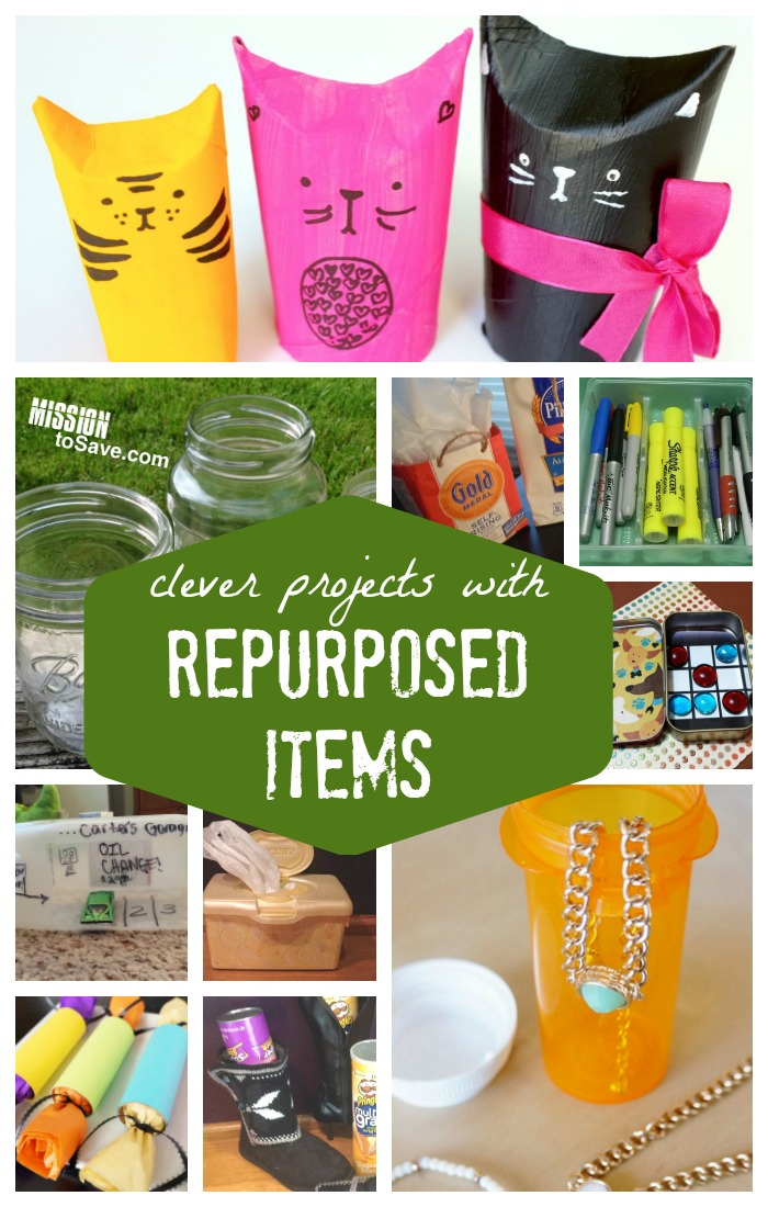 Clever projects with repurposed items roundup of for Creative recycling projects