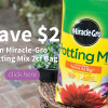 Miracle-Gro® Potting Mix $2 Off Coupon!